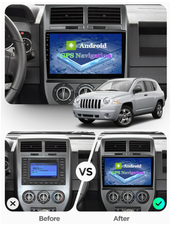 Штатная Android Магнитола на Jeep Compass 2006-2010 Model 4G-solution + canbus (М-ДЖст-10-4Ж)