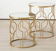 Комплект кавових столиків Едісон метал h50-60см d45-50см