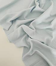 Муслін (бавовняна тканина) жатка ніжно-блакитний однотон (35*135)