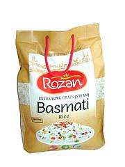 Рис Басмати пропаренный длиннозернистый Basmati Extra Long Grain (Steam) Rozen, 5 кг.