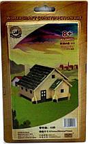 Деревянный 3Д пазл Домик с зеленой крышей PV-PH076 Sea Land