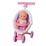 Іграшкова лялька Даринка М 5444-1 UA музична з коляскою та аксесуарами, фото 3