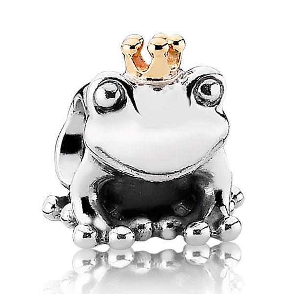 Шарм из серебра и золота «Царевна-лягушка»