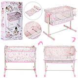 Игрушечная кроватка манеж для куклы DeCuevas 51234 кроватка для ляльки розовая, фото 2