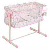 Игрушечная кроватка манеж для куклы DeCuevas 51234 кроватка для ляльки розовая, фото 3