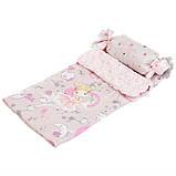 Игрушечная кроватка манеж для куклы DeCuevas 51234 кроватка для ляльки розовая, фото 4