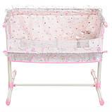 Игрушечная кроватка манеж для куклы DeCuevas 51234 кроватка для ляльки розовая, фото 5