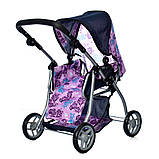 Игрушечная коляска для куклы 4в1 коляска прогулочная + спальная и переноска Melogo 9672 Коляска для ляльки, фото 3