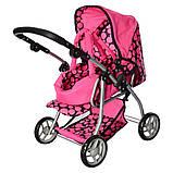 Игрушечная коляска для куклы 4в1 коляска прогулочная + спальная и переноска Melogo 9672 Коляска для ляльки, фото 6