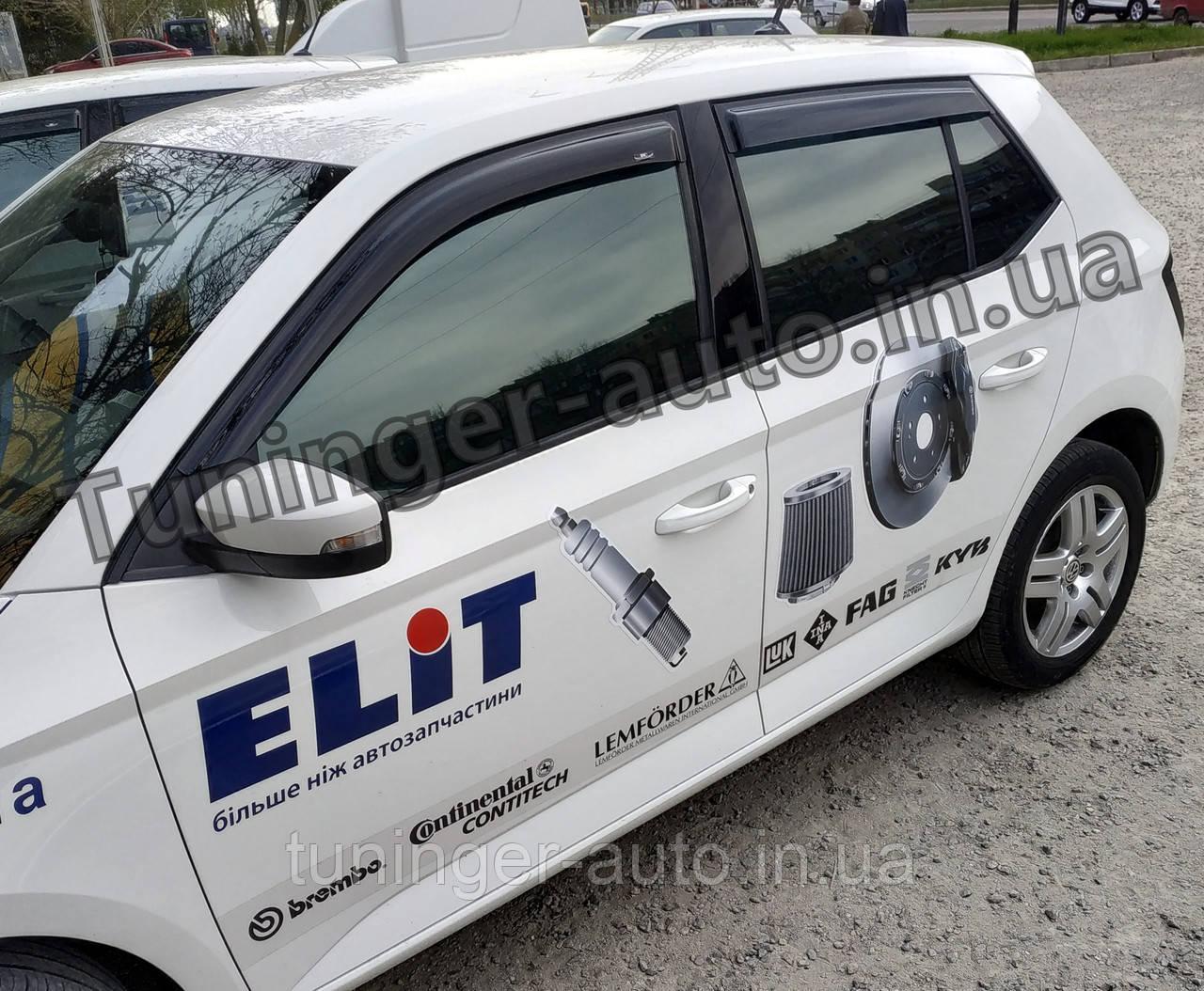 Ветровики, дефлекторы окон Skoda Fabia III Hatchback  2014-