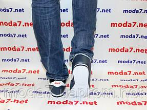 Кроссовки мужские синие Nike Cortez нат. кожа реплика, фото 3