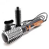 Стайлер 3в1 Gemei GM-4828  Вращающаяся воздушная фен щетка для волос Мультистайлер с насадками 1000Вт, фото 3