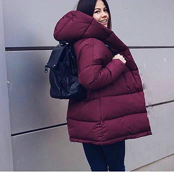 Жіноча зимова куртка зефирка з капюшоном (Норма)
