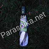 Женский зонт зеленый с изобр. павлина арт 3557а-6, фото 4