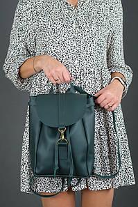 Жіночий шкіряний рюкзак Київ, розмір міні, натуральна шкіра Grand колір Зелений