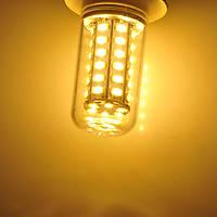 Светодиодная лампа E27 8W 220V 48pcs smd5730 Теплый белый
