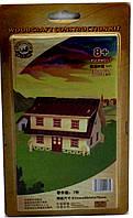 Деревянный 3Д пазл Домик с красной крышей PV-PH057 Sea Land