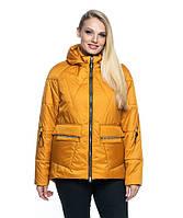 Модна яскрава коротка жіноча куртка з капюшоном, фото 1