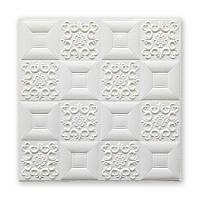 Самоклеющаяся декоративная потолочно-стеновая 3D панель фигуры 700x700x5мм (114)