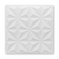 Самоклеющаяся декоративная потолочно-стеновая 3D панель звезды 700x700x8мм (116)
