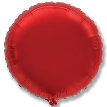 """Фольгированный шар круг красный 9"""" Flexmetal"""