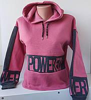 """Подростковый реглан с капюшоном для девочек, 10-14 лет. Три нитки начес """"AKKY """", фото 1"""