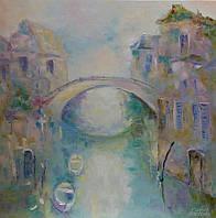 «Город романтиков и поэтов» картина маслом
