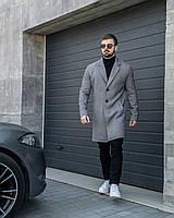 Пальто мужское серое демисезонное