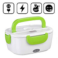 Ланч-бокс с подогревом от сети 220V Зеленый Electric lunch box Контейнер для еды судок для обедов