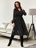 Шифонова сукня-міді з принтом і розкльошеною спідницею, фото 9