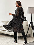 Шифонова сукня-міді з принтом і розкльошеною спідницею, фото 10