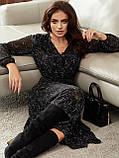 Шифонова сукня-міді з принтом і розкльошеною спідницею, фото 8