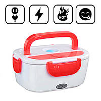 Ланч-бокс с подогревом от сети 220V Красный Electric lunch box Контейнер для еды судок для обедов