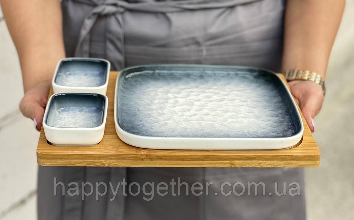 """Тарілка для суші """"Едо"""" 29х23 см"""