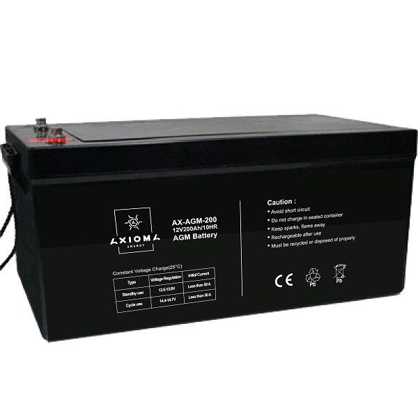 AXIOMA energy Акумулятор AGM 12В 200аг, AX-AGM-200, AXIOMA energy