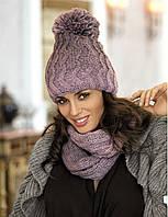 Красивый модный комплект шапка и шарф-снуд от Kamea - LUISA.