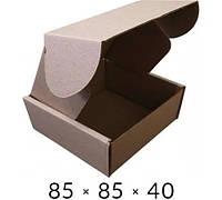 Самосборная картонная коробка - 85 × 85 × 40 на 0,1 кг, фото 1