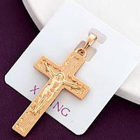Хрестик xuping довжина 3.8 см медичне золото позолота 18К к323
