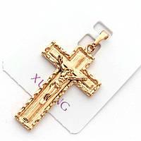 Хрестик xuping довжина 3.7 см медичне золото позолота 18К к256