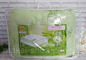 Одеяло бамбук - алое евро размер наполнение - холлофайбер, ткань - микрофибра в подарочной сумке О-903