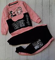 Костюм дитячий флис LOVE для дівчинки 3-6 років,колір уточнюйте при замовленні