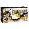 Сковородка для приготовления блинов Sokany SK-5208 Crepe Maker электрическая блинница, фото 7