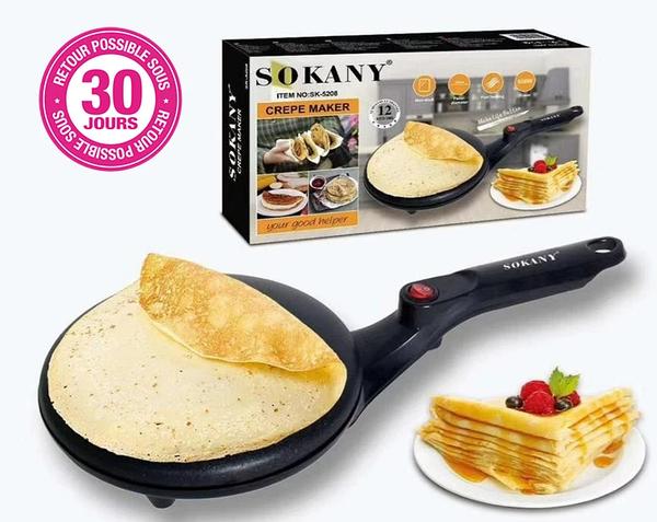 Сковорідка для приготування млинців Sokany SK-5208 Crepe Maker електрична млинниця