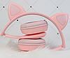 Бездротові Bluetooth-навушники CAT XY-205 з LED підсвічуванням з котячими вушками, фото 3