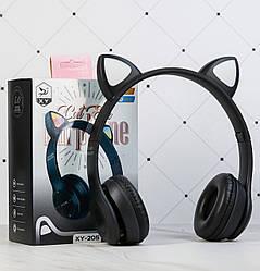 Беспроводные Bluetooth наушники CAT XY-205 с LED подсветкой с кошачьими ушками