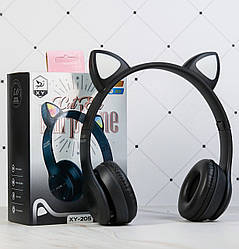 Бездротові Bluetooth-навушники CAT XY-205 з LED підсвічуванням з котячими вушками