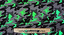 """Ткань футер двунитка разноцветная принт """"Зеленый камуфляж"""" (Турция)"""