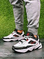 Мужские кроссовки Nike M2K Tekno кроссовки найк текно бело-чёрные осень-весна качественные кроссовки мужские