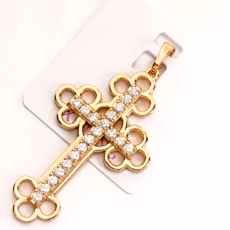 Хрестик xuping довжина 4.7 см медичне золото позолота 18К к263