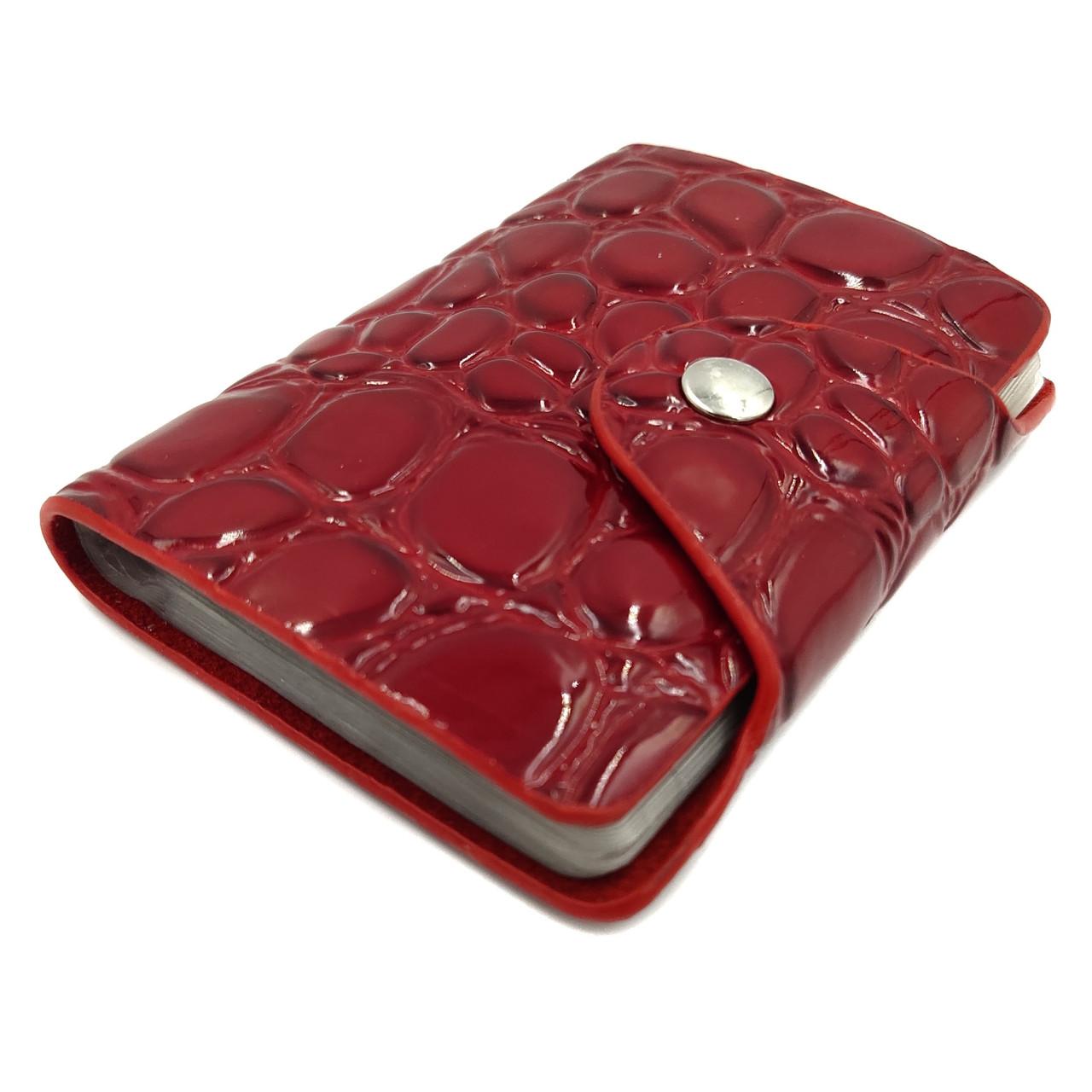 Визитница женская искусственная кожа красный Арт.808B red Balisa (Китай)
